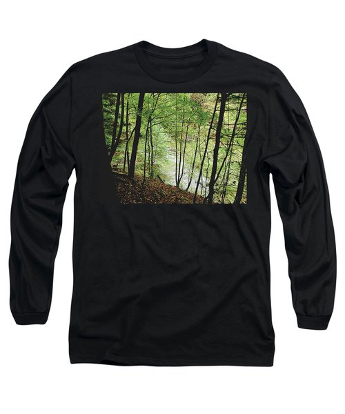 Silhouetted Trees Long Sleeve T-Shirt