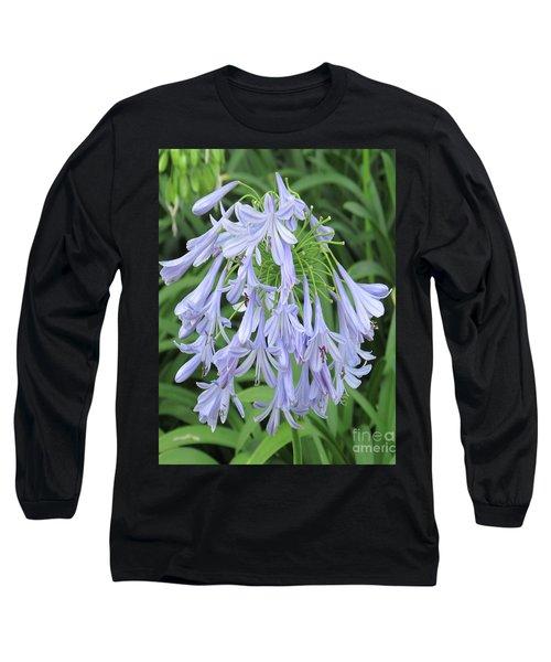 Silky Blue Blossoms Long Sleeve T-Shirt