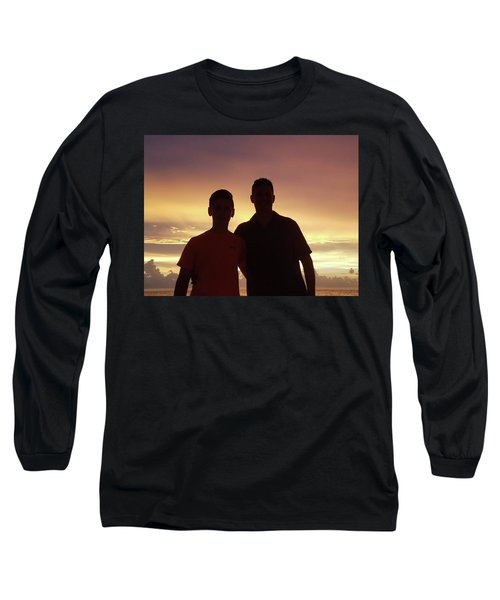 Silouettes Long Sleeve T-Shirt by Val Oconnor