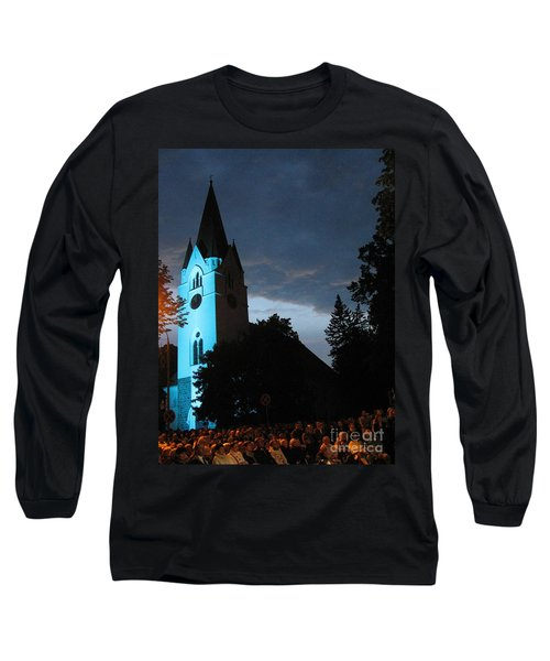 Long Sleeve T-Shirt featuring the photograph Silute Lutheran Evangelic Church Lithuania by Ausra Huntington nee Paulauskaite