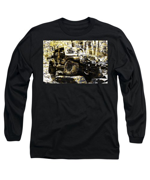 Silver And Gold Jeep Wrangler Jku Long Sleeve T-Shirt