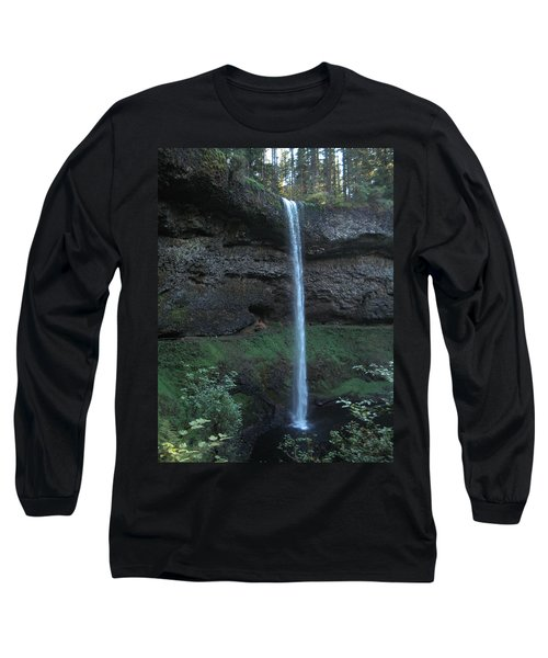 Long Sleeve T-Shirt featuring the photograph Silver Falls by Thomas J Herring