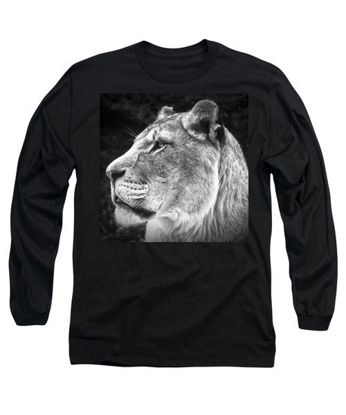 Long Sleeve T-Shirt featuring the photograph Silver Lioness - Squareformat by Chris Boulton