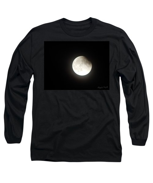 Silver White Eclipse Long Sleeve T-Shirt