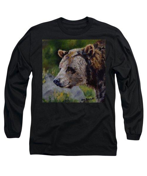 Silvertip Long Sleeve T-Shirt by Lori Brackett