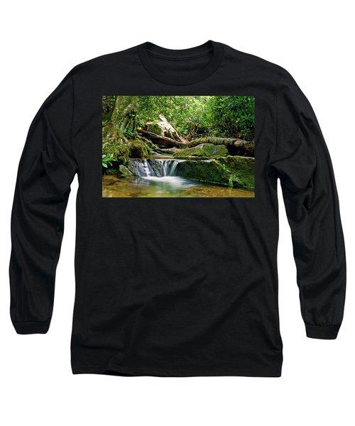 Sims Creek Waterfall Long Sleeve T-Shirt by Meta Gatschenberger