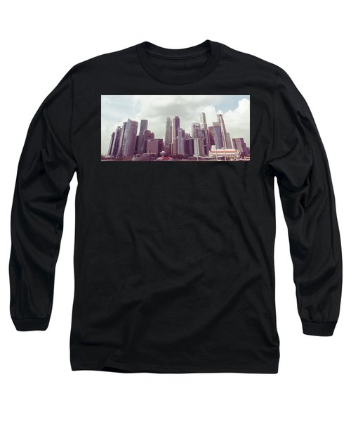Singapore Cityscape The Second Long Sleeve T-Shirt by Joseph Westrupp