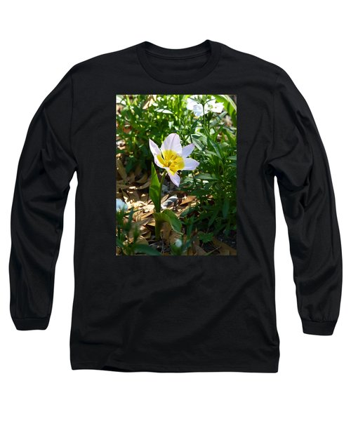 Single Flower - Simplify Series Long Sleeve T-Shirt by Carla Parris