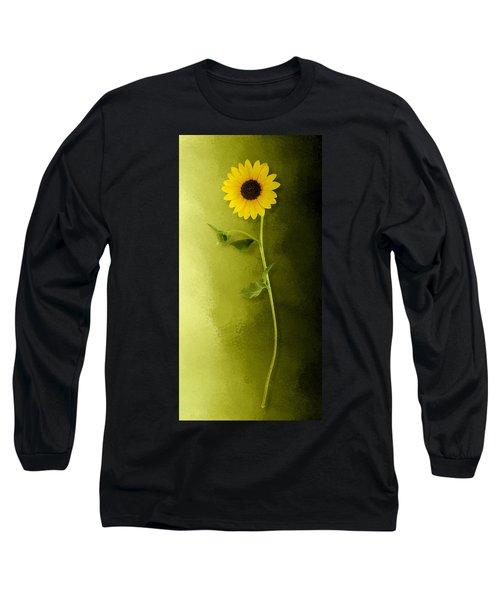 Single Long Stem Sunflower Long Sleeve T-Shirt