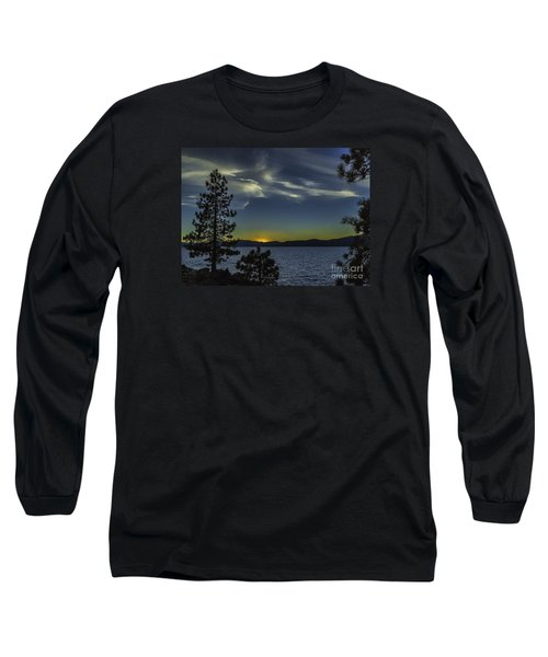 Long Sleeve T-Shirt featuring the photograph Sinking Sol by Nancy Marie Ricketts