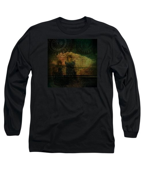 Long Sleeve T-Shirt featuring the digital art Sisters At The Shore by Delight Worthyn