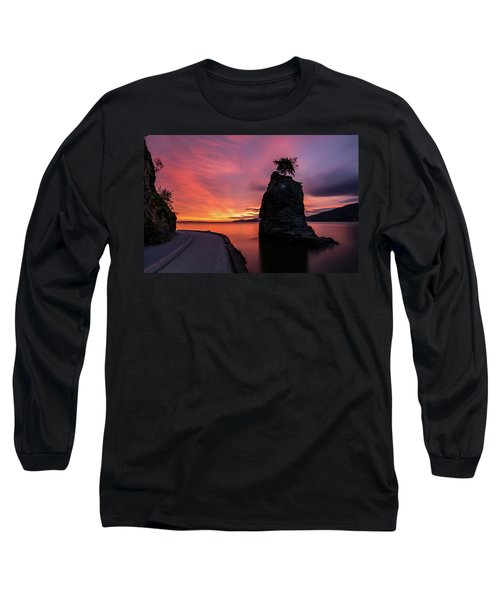 Long Sleeve T-Shirt featuring the photograph Siwash Rock Along The Sea Wall by Pierre Leclerc Photography