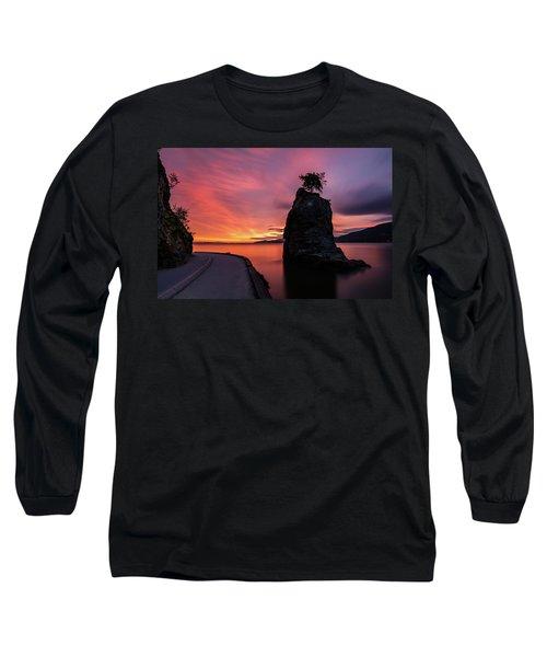 Siwash Rock Along The Sea Wall Long Sleeve T-Shirt