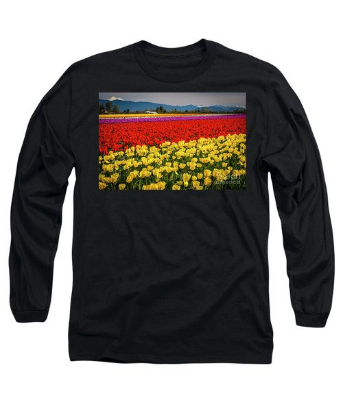 Skagit Valley Tulips  Long Sleeve T-Shirt