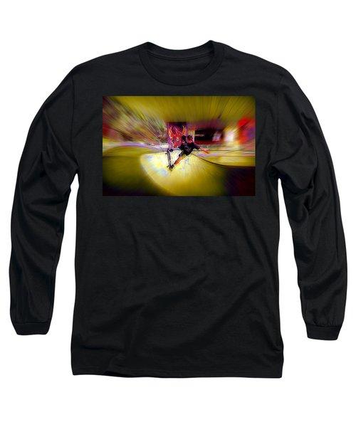 Long Sleeve T-Shirt featuring the photograph Skateboarding by Lori Seaman