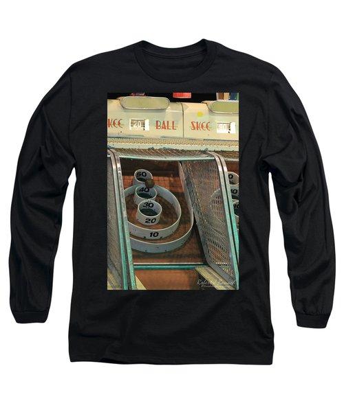 Skee Ball At Marty's Playland Long Sleeve T-Shirt