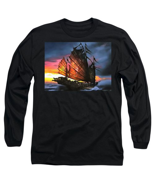 Skeleton Of A Junk Long Sleeve T-Shirt