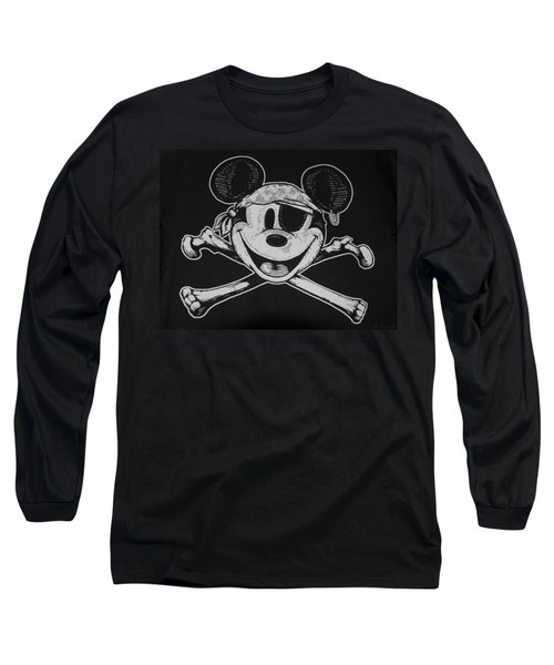 Skull And Bones Mickey  Long Sleeve T-Shirt