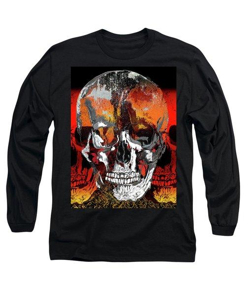 Skull Times Three Long Sleeve T-Shirt