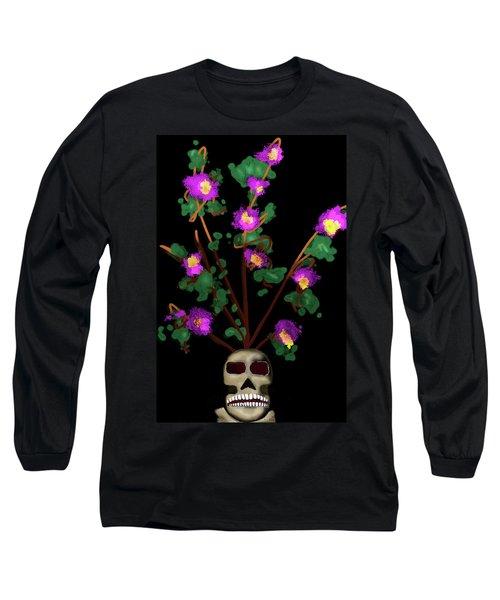 Skull Vase Long Sleeve T-Shirt