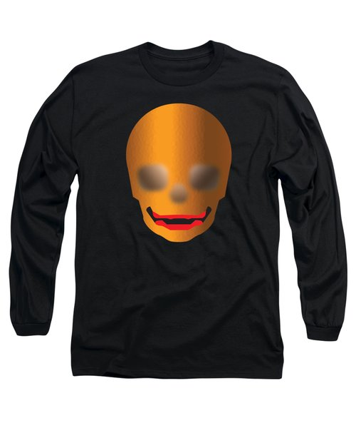 Skull With Lips Long Sleeve T-Shirt by Stan  Magnan