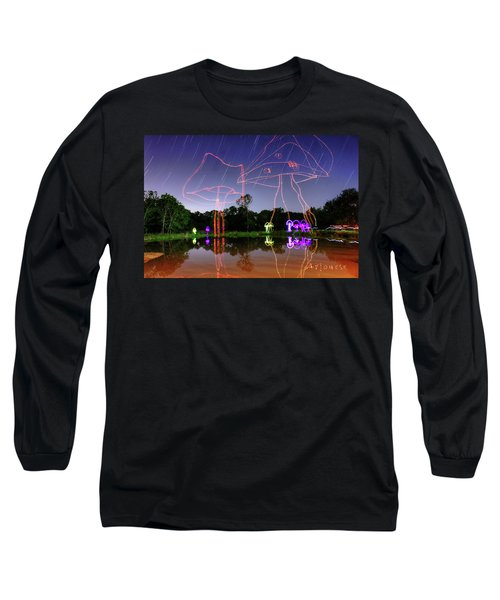Sky Shrooms Long Sleeve T-Shirt by Andrew Nourse
