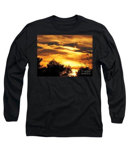 Sky Study 7 3/11/16 Long Sleeve T-Shirt by Melissa Stoudt