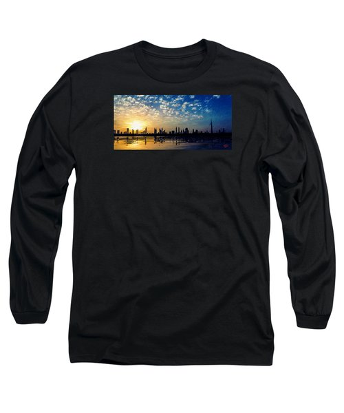 Long Sleeve T-Shirt featuring the painting Skyline by James Shepherd