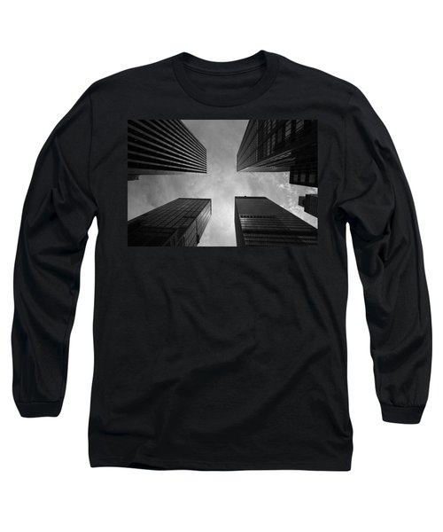 Long Sleeve T-Shirt featuring the photograph Skyscraper Intersection by Linda Edgecomb
