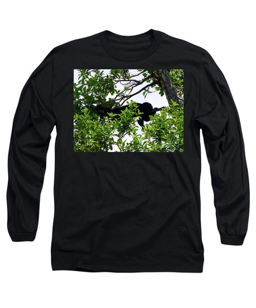 Long Sleeve T-Shirt featuring the photograph Sleeping Monkey by Francesca Mackenney