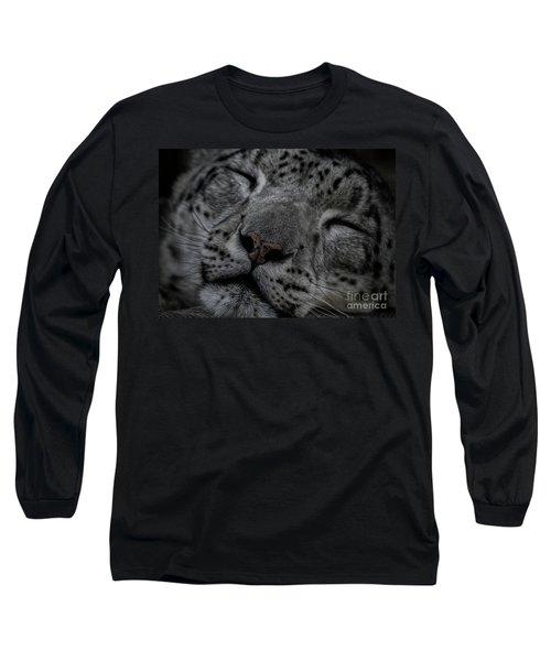 Sleepy Cat Long Sleeve T-Shirt by Brad Allen Fine Art