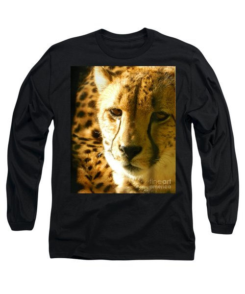 Sleepy Cheetah Cub Long Sleeve T-Shirt