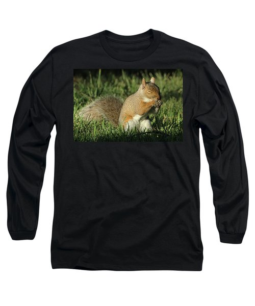 Sleepy Long Sleeve T-Shirt by David Stasiak