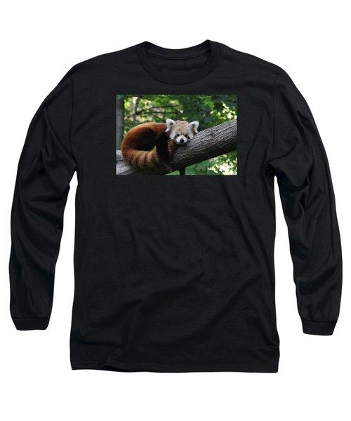 Sleepy Red Panda Long Sleeve T-Shirt