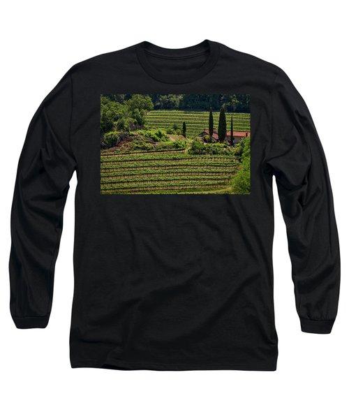 Long Sleeve T-Shirt featuring the photograph Slovenian Vineyard by Stuart Litoff