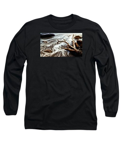 Long Sleeve T-Shirt featuring the photograph Slow Motion Sea by Cameron Wood