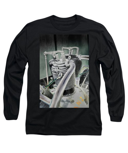 Small Radial Engine Long Sleeve T-Shirt