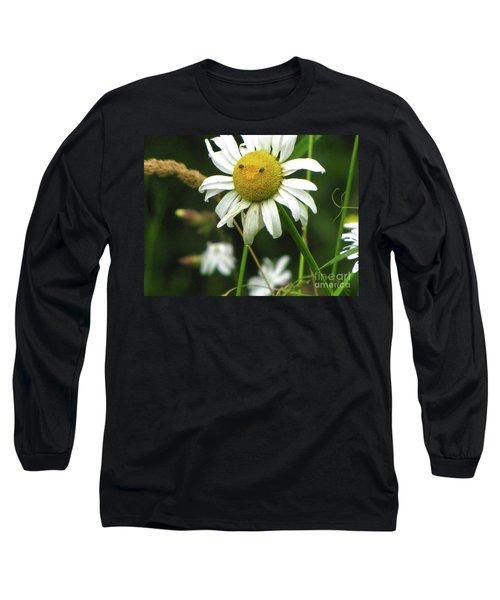 Long Sleeve T-Shirt featuring the photograph Smiley Face Ox-nose Daisy by Sean Griffin