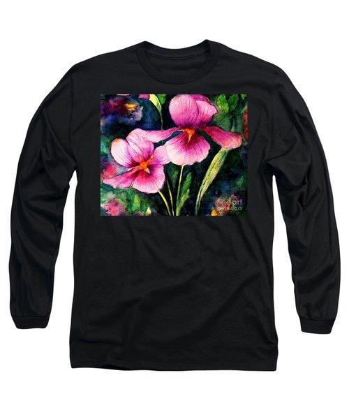 Smiling Iris Faces  Long Sleeve T-Shirt