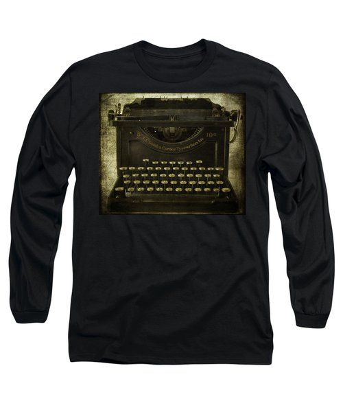 Smith And Corona Typewriter Long Sleeve T-Shirt