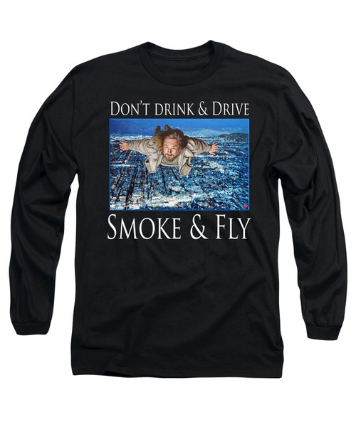 Long Sleeve T-Shirt featuring the painting Smoke And Fly by Tom Roderick