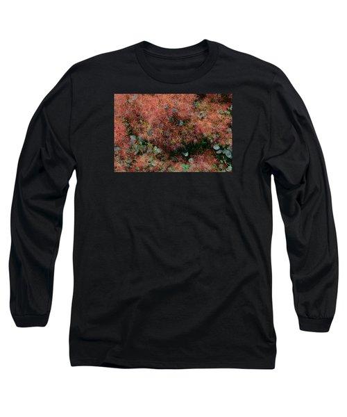 Smoke Bush 2  Long Sleeve T-Shirt by Lyle Crump