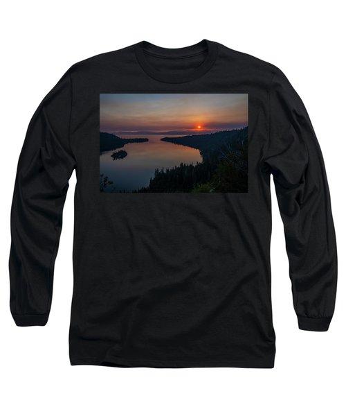 Smoke-diffused Sun At Emerald Bay Long Sleeve T-Shirt