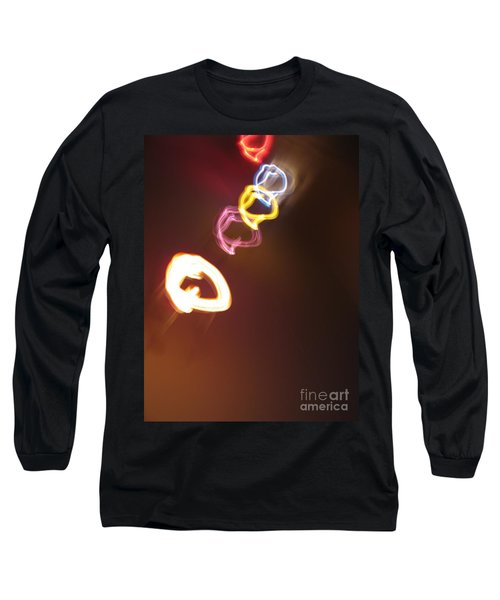 Long Sleeve T-Shirt featuring the photograph Smoke In Colors by Ausra Huntington nee Paulauskaite
