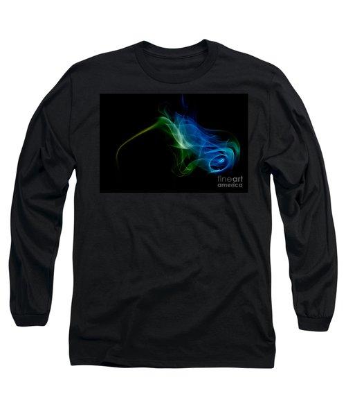 Long Sleeve T-Shirt featuring the photograph smoke VI by Joerg Lingnau