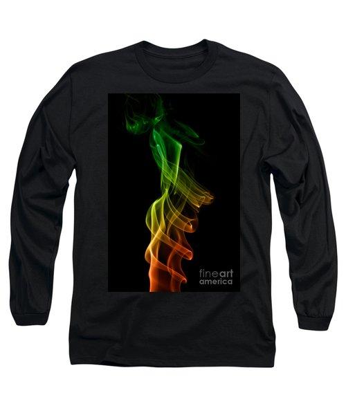 Long Sleeve T-Shirt featuring the photograph smoke XXII by Joerg Lingnau
