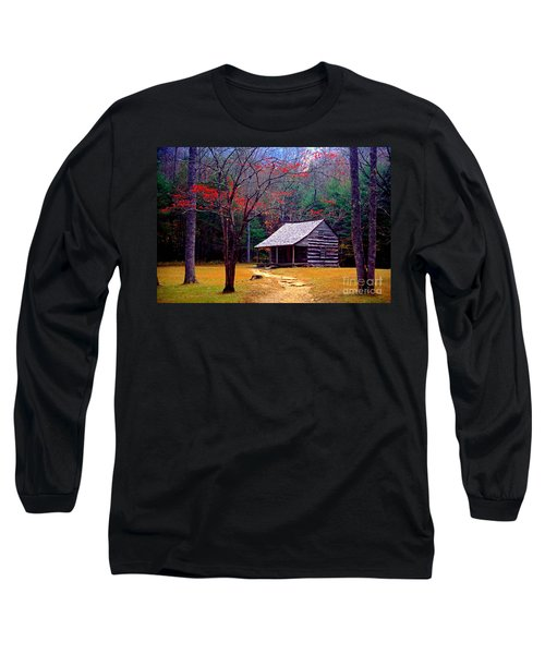 Smoky Mtn. Cabin Long Sleeve T-Shirt by Paul W Faust -  Impressions of Light