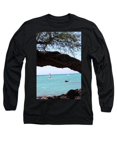 Smooth Sailing Long Sleeve T-Shirt by Karen Nicholson