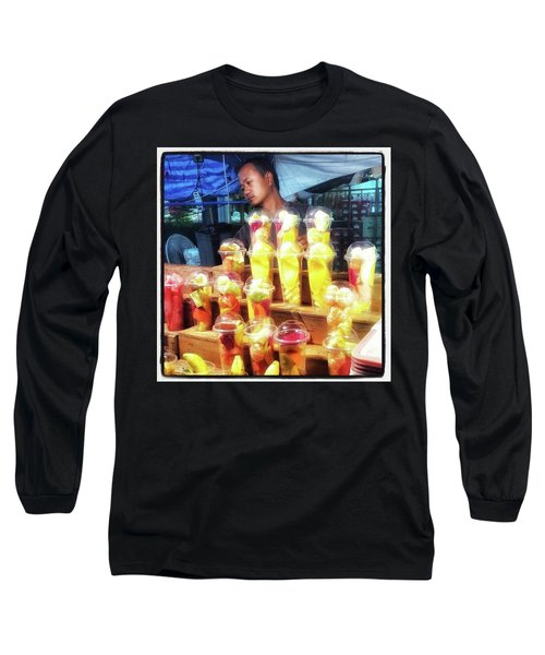 Long Sleeve T-Shirt featuring the photograph Smoothie Nirvana. Choose A Cup Of by Mr Photojimsf