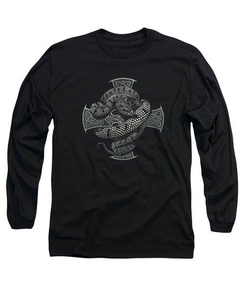 Snake Cross T-shirt Long Sleeve T-Shirt by Stanley Morrison